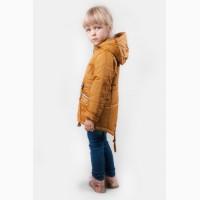 Куртка демисезонная для девочки золотого цвета