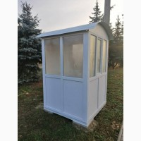 Пластиковый Ларёк Пост Охраны из Металлопластиковых Окон и Дверей