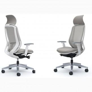 Японские кресла для офиса OKAMURA SYLPHY Light grey белый каркас