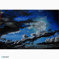 Картина Лунное настроение, холст, масло. 40х60 см