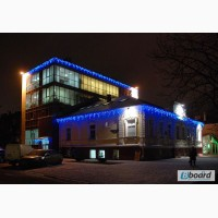 Световая гирлянда бахрома 3 х0, 5 метра, новогодняя иллюминация дома, монтаж