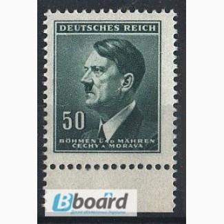 Почтовая марка. Deutsches Reich. Bohmen und Mahren. 1942г. SC 94, MI 92