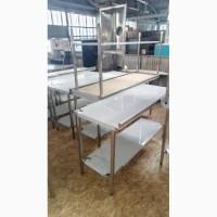 Стол производственный из нержавеющей стали для кафе ресторана бара новые по цене б/у