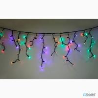 Новогодние гирлянды бахрома, световые гирлянды, праздничная иллюминация