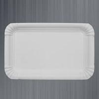 Тарелка бумажная прямоугольная ХТ 100шт 15*22см (10/1000) Белая