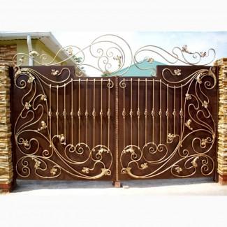 Изготовление металлических распашных ворот. Изготовление и продажа металлических ворот