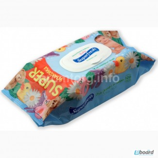 Детские влажные салфетки SuperFresh с клапаном (большая упаковка)