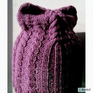 Продам новую вязанную шапочку-кошка