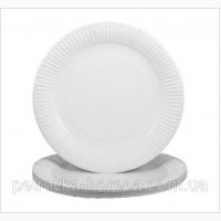 Тарелка бумажная Цветная и Белая ХТ18 100шт/уп 16см
