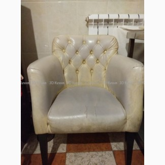 Белые кресла б.у, мебель бу в кафе, бары, рестораны, офис