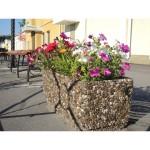 Вазоны бетонные, цветочники садовые, цветники парковые, клумбы для цветов из бетона