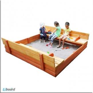 Песочницы детские деревянные 200см с крышкой