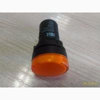 Светосигнальный индикатор AD22-22DS жёлтая 230В AC IEK