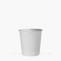 Однослойные бумажные стаканы белые