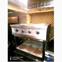 Плита б/у электрическая профессиональная напольная без духовки, 4 конфорки
