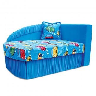 Детский диван Колибри синий с машинками