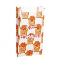 Пакет бумажный Смачна картопля фрі 170*100*50 (1уп/100шт.)