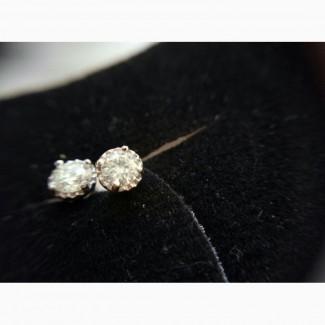 Серьги-пусеты с бриллиантами 0.29 карата