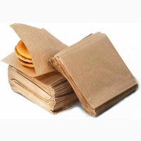 Пакет бумажный уголок 150*150мм (для гамбургера, блинов.)
