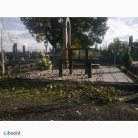 Кованое ритуальное ограждение на кладбище, Луцьк