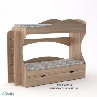 Кровать детская. Двухъярусная Бриз