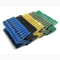 Прищепки пластиковые разноцветные
