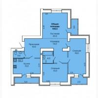 ЖК «LEVANEVSKY», 3-х комнатная квартира (108, 5 кв.м.) в Лесках