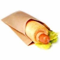Пакет бумажный 90*250*40мм саше для шаурмы, хот-дога