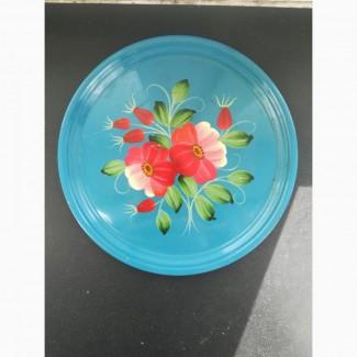 Декоративная расписная сувенирная тарелка петриковская роспись