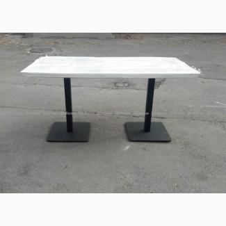 Продам деревянный белый стол бу на чугунной ножке Киев