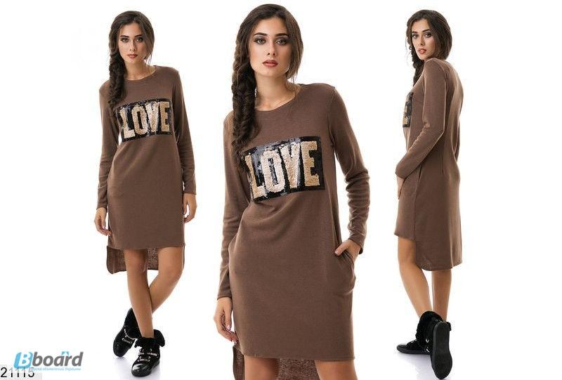 681ec7bb19e Платье молодежное теплое ассиметричный крой (5 цветов)
