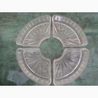 Продам конфетницу/пепельницу круглую стеклянную из четырех частей без дефектов