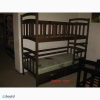 Двухъярусная кровать «Карина плюс» из натурального массива дерева
