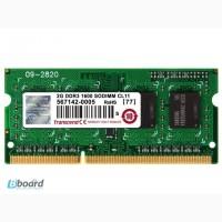 Память для ноутбука SODIMM DDRIII 2Gb ( DDR3 )