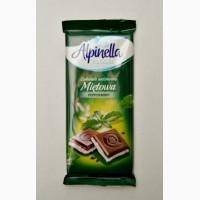 Шоколад молочный с мятой Alpinella Mietowa 100г