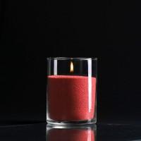Красная насыпная свеча, красный воск