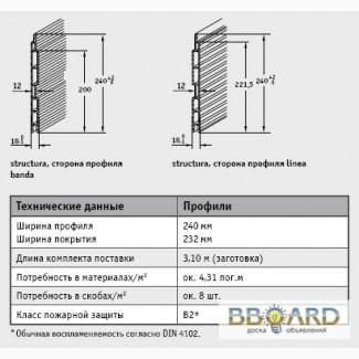 Вентилируемые фасады Werzalit - Серия Structura