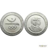 Набор из 13 серебряных испанских монет Олимпиада в Барселоне 1992.