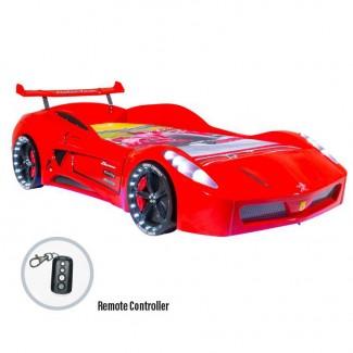 Детская кровать-машина Turbo V7 Full АКЦИЯ: матрас 190*90*15см Бимбо в подарок