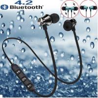 Без проводные наушники водостойкие, магнитные для всех телефонов, спорт, басы