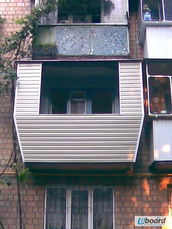 Фото к объявлению: обшивка балкона сайдингом снаружи. киев -.