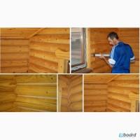 Герметизация, (утеплению) срубов деревянных домов Украине, Одесса