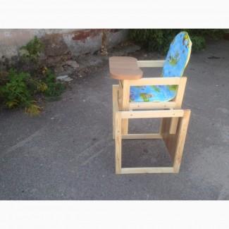 Детский деревянный стульчик – трансформер для кормления
