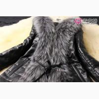 Куртка демисезонная из PU кожи