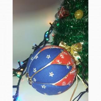 Новогодняя елочная игрушка ручной работы Кимекоми. Шар новогодний