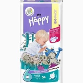 Подгузники детские Bella Baby Happy Junior Extra 16+ кг 54 шт
