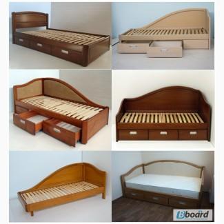 Кровати односпальные из массива ясеня от производителя