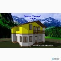 Каркасный канадский дом из сип панелей от производителя Харьков Ривьера
