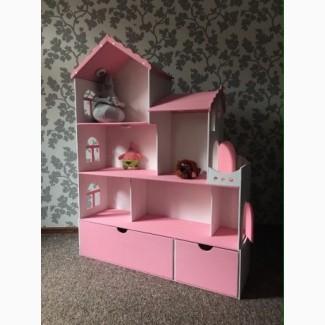 Большой домик для кукол Барби. Шикарный подарок