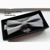 Бабочка галстук серая черная в упаковке selected homme с платком в комплекте набор запонки